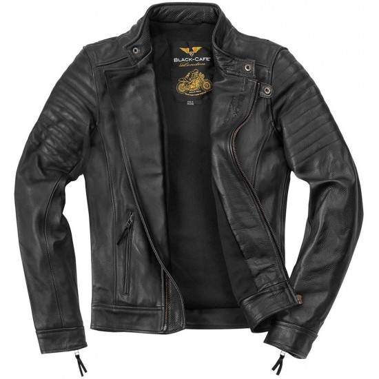 Яке Black-Cafe London Malayer Motorcycle Leather Jacket
