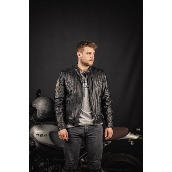 Яке Black-Cafe London Sari Motorcycle Leather Jacket