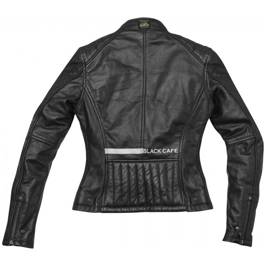 Яке Black-Cafe London Toronto Ladies Motorcycle Leather Jacket