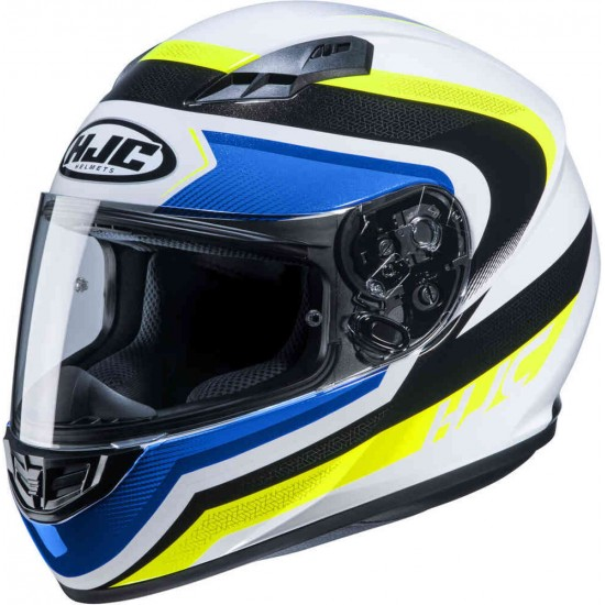 Каска HJC CS-15 Rako White/Yellow/Blue