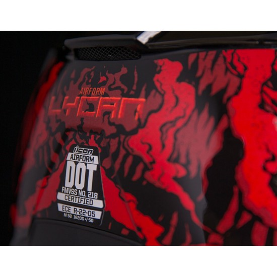 КАСКА ICON AIRFORM LYCAN RED