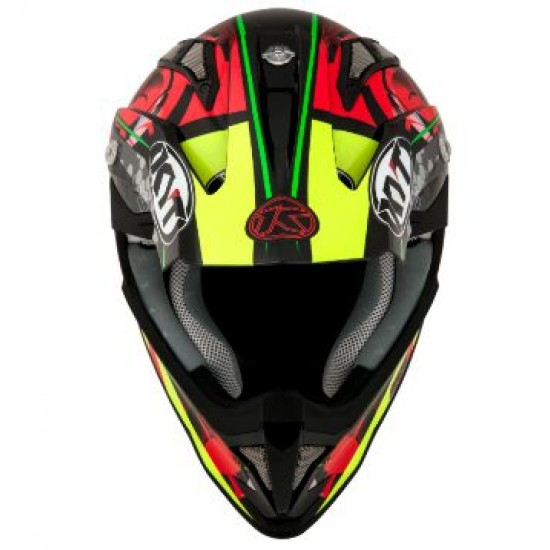 МОТО КРОС КАСКА KYT STRIKE EAGLE WEB MATT RED/GREEN