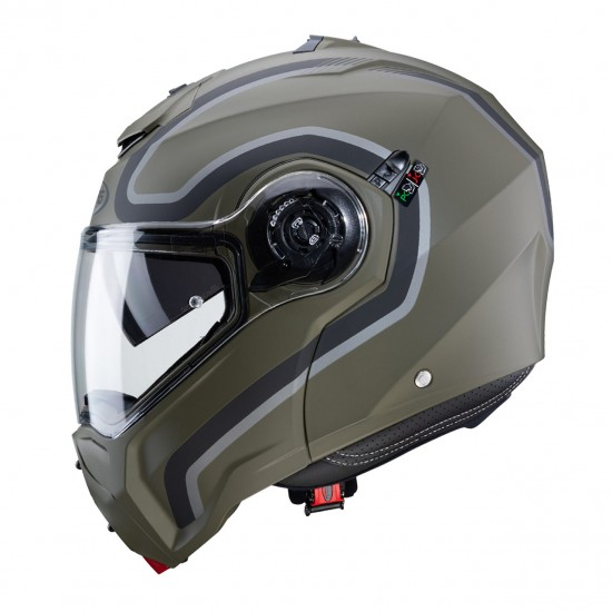 КАСКА CABERG DROID PURE MATT MILITARY GREEN/BLACK/ANTHRACITE