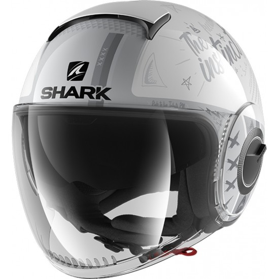 Каска SHARK NANO TRIBITE RM GREY/WHITE