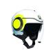 Каска за скутер AGV ORBYT E2205 MULTI - SUNSET WHITE/YELLOW FLUO