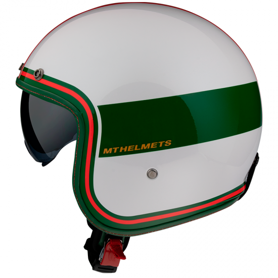Каска MT LE MANS 2 TANT GLOSS RED/GREEN