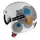 Каска за скутер MT LE MANS 2 ZERO A4 WHITE/ORANGE GLOSS