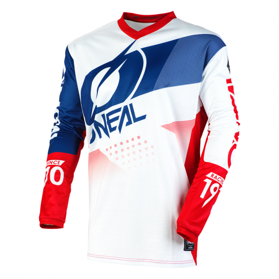Джърси блуза ONEAL ELEMENT FACTOR WHITE/BLUE/RED
